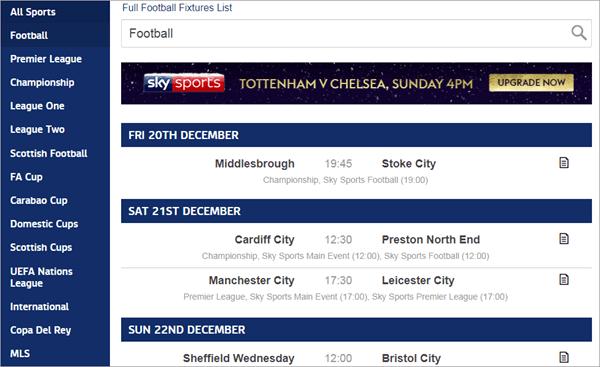 Sky Sports est une plate-forme polyvalente pour diffuser des matchs de football et la télévision en direct.