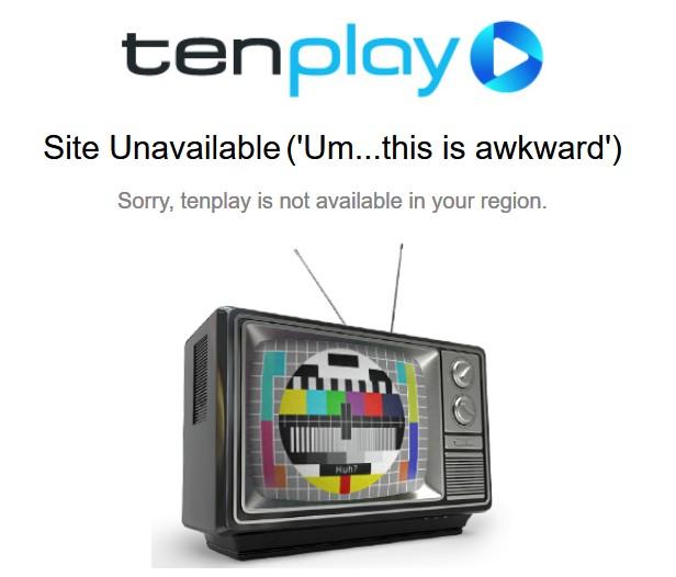 Tenplay non disponible dans votre région