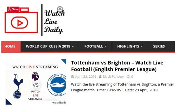 Watch Live Daily est un site Web conçu pour regarder toutes les meilleures ligues de football.